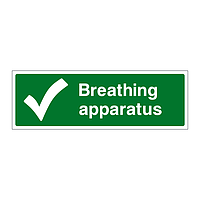 Breathing apparatus sign