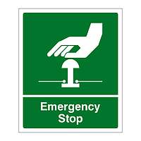 Emergency Stop sign (Green)