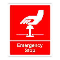 Emergency Stop sign (Red)