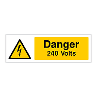 Danger 240 Volts sign