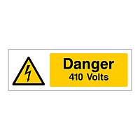Danger 410 Volts sign