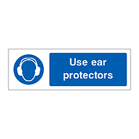 Use ear protectors sign