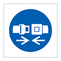 Safety belt symbol sign
