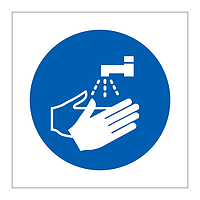 Wash your hands symbol sign