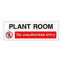 Plant Room No unauthorised entry