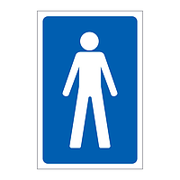 Male Toilet symbol sign