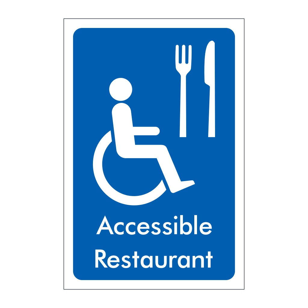 Accessible Restaurant sign