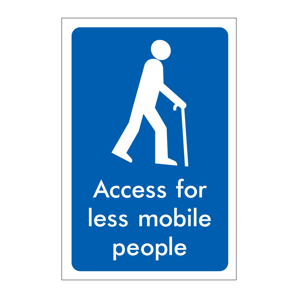 Access for less mobile people sign