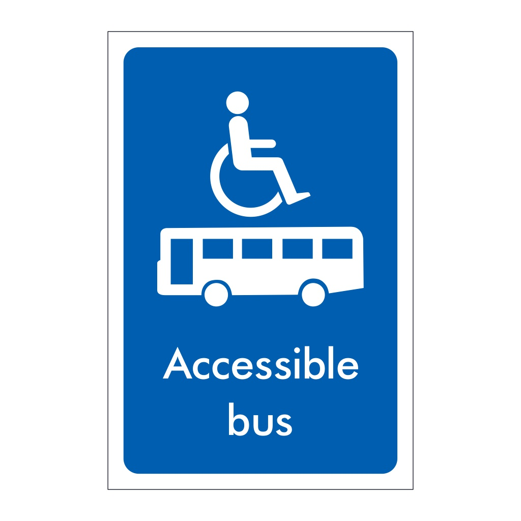 Accessible Bus sign