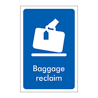 Baggage reclaim sign