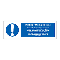 Mincing Mixing Machine sign
