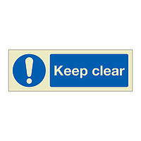 Keep clear (Marine Sign)