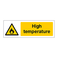 High temperature sign