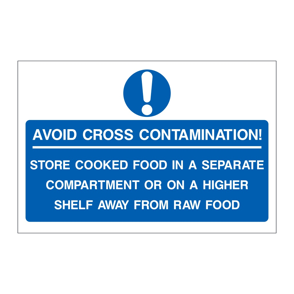 Avoid Cross Contamination sign