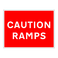 Caution ramps sign