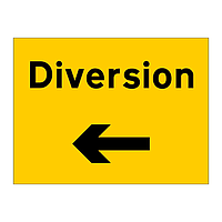 Diversion Arrow Left sign