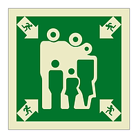 Assembly Muster Station Symbol (Marine Sign)