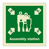 Assembly Station with Text (Marine Sign)