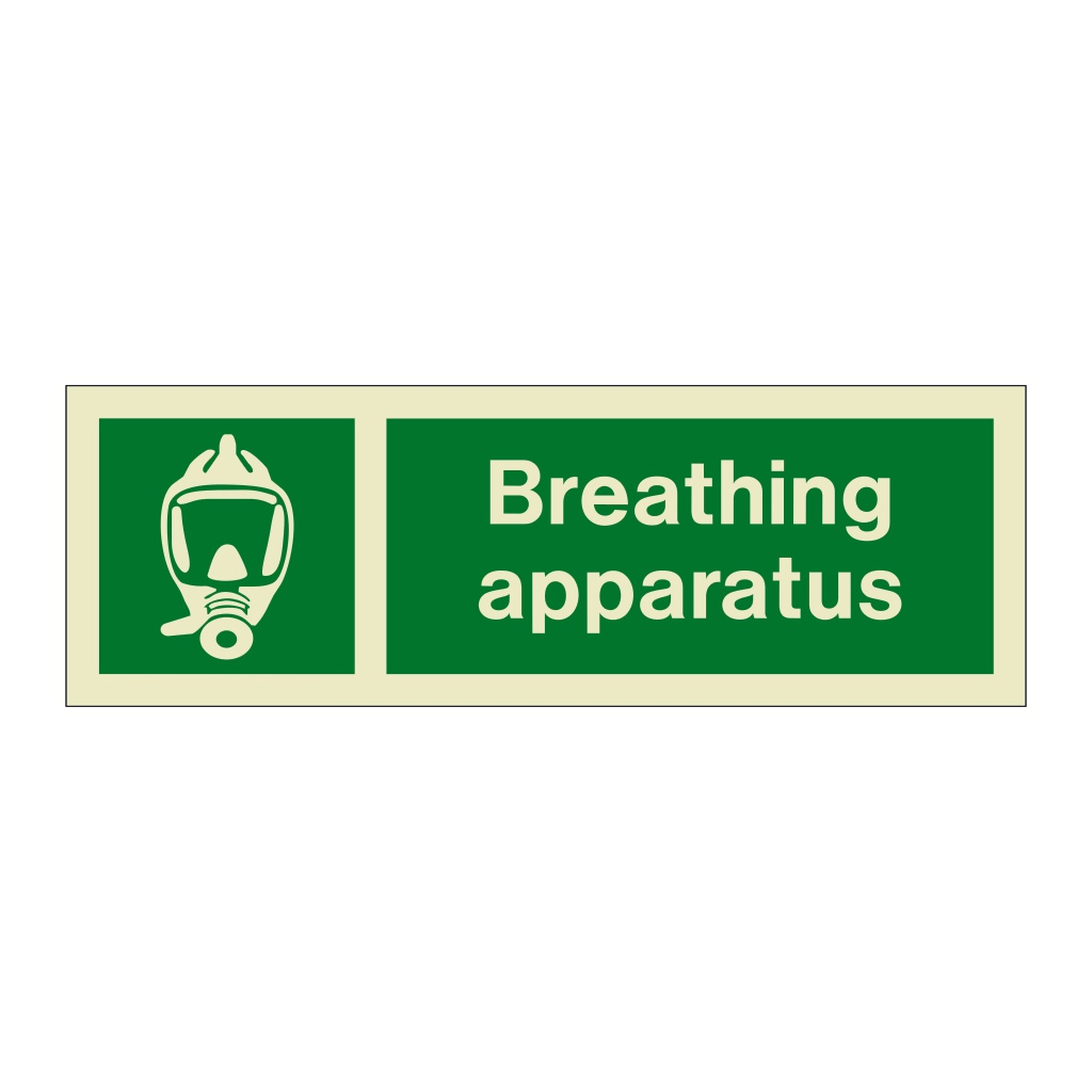 Breathing apparatus with text (Marine Sign)