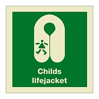 Childs Lifejacket with Text (Marine Sign)