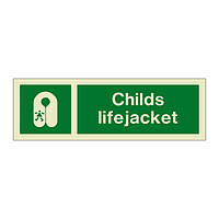 Childs Lifejacket Text & Symbol (Marine Sign)