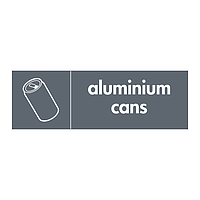 Aluminium cans with icon sign