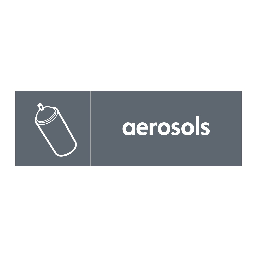 Aerosols with icon sign