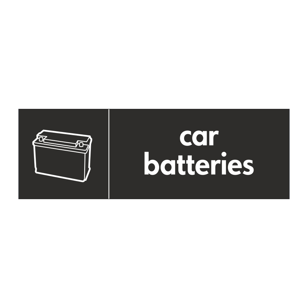 Car batteries with icon sign