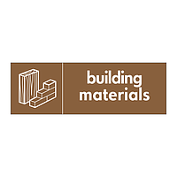 Building materials with icon sign
