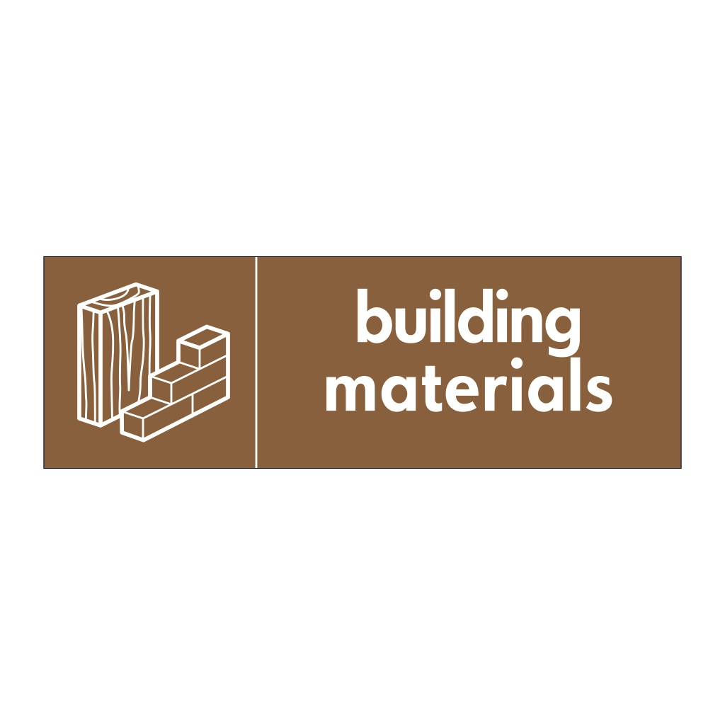 Building materials with icon