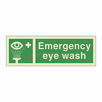 Emergency Eye Wash With Text (Marine Sign)