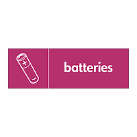 Batteries with icon sign