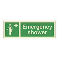 Emergency Shower with Text (Marine Sign)