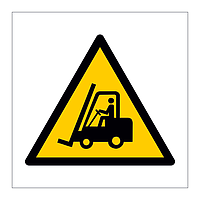 Forklift truck industrial vehicles hazard warning symbol sign