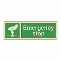 Emergency Stop with Text (Marine Sign)