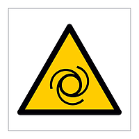 Automatic start up hazard warning symbol sign