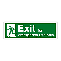 Exit for Emergency Use Only Running Man Left sign