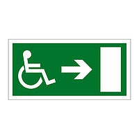 Disabled Exit Arrow Right sign