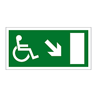 Disabled Exit Arrow Down Right sign