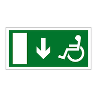 Disabled Exit Arrow Down sign
