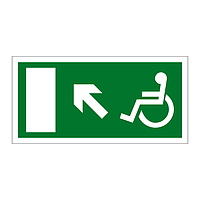 Disabled Exit Arrow Up Left sign