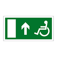 Disabled Exit Arrow Up sign