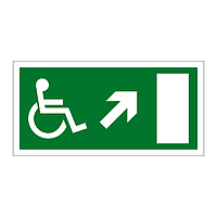 Disabled Exit Arrow Up Right sign