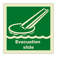 Evacuation Slide with Text (Marine Sign)