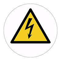 Electricity hazard warning symbol labels (Sheet of 18)