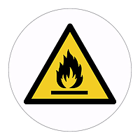Flammable hazard warning symbol labels (Sheet of 18)