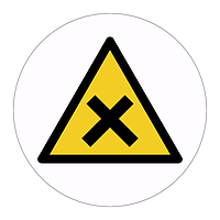 Irritant substance hazard warning symbol labels (Sheet of 18)