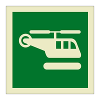 Helicopter Landing Area (Marine Sign)