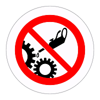 Do not clean or oil moving machinery (Sheet of 18 Labels)