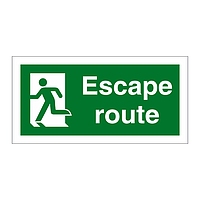Escape Route Running Man Left sign